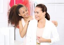 Boutique, achat de femmes Image libre de droits