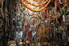 Boutique antique à Marrakech, Maroc images libres de droits