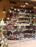 Boutique avec des souvenirs Photo stock