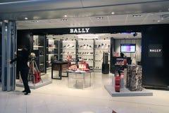 Boutique Bally en aéroport de Hong Kong International Photographie stock libre de droits