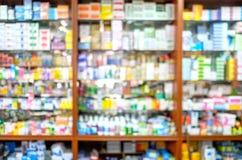 Boutique brouillée de pharmacie photos libres de droits
