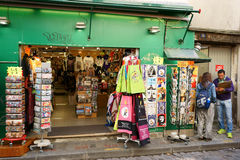 Boutique and Cartoonist in Montmartre Stock Images
