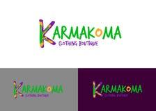 Boutique clothing logo karmakoma vector fashion.  Royalty Free Stock Image