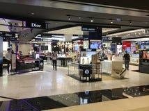 Boutique cosmetici nel centro commerciale centrale del mondo, Bangkok Fotografie Stock