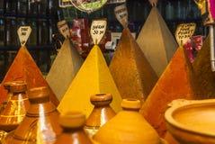 Boutique d'épice de Moroocan Photos stock