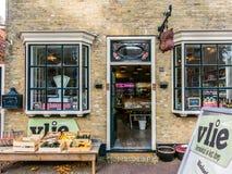 Boutique d'aliment biologique de façade, Hollande Images libres de droits