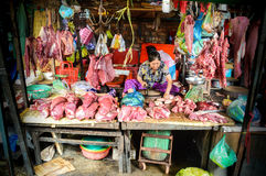 Boutique d'amant de viande Photographie stock libre de droits