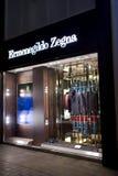 Boutique d'Ermenegildo Zegna Image stock