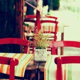 Boutique d'offee de ¡ de l'été Ð dans la vieille ville, impressions de la Grèce Photo stock