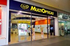 Boutique d'opticiens de MultiOpticas photographie stock