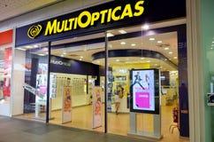 Boutique d'opticiens de MultiOpticas Images stock