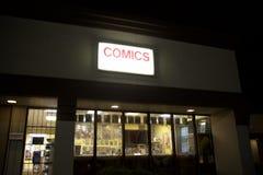 Boutique de bande dessinée Photographie stock