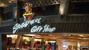 Boutique de cadeaux à la tour de stratosphère à Las Vegas, Nevada Images stock