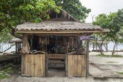 Boutique de cadeaux dans le gili trawangan Photos stock