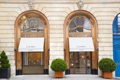Boutique de Cartier Vendome en place à Paris, France Image stock