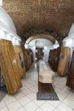 Boutique de cercueil Affichage des cercueils Photographie stock libre de droits