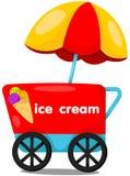 Boutique de chariot de crème glacée  Photographie stock