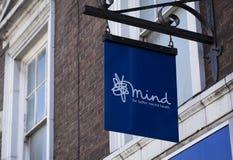 Boutique de charité de santé mentale d'esprit photo stock