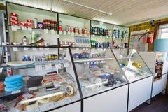 Boutique de chimie et d'outils de peinture d'automobile Photos libres de droits