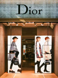 Boutique de Christian Dior Images libres de droits