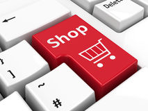 Boutique de clavier d'ordinateur Photographie stock libre de droits