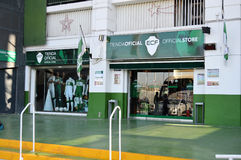 Boutique de club du football d'Elche Images stock