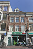 Boutique de Coffe dans la vieille ville d'Amsterdam. Photo stock