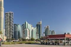 Boutique de Costa Coffe sur le Corniche dans Doha Qatar Photographie stock