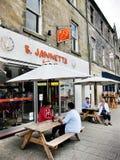 Boutique de crème glacée à Edimbourg, Ecosse Image libre de droits