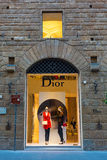 Boutique de Dior au centre de la ville de Florence, Italie Photos libres de droits