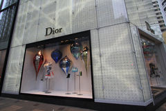 Boutique de Dior en Hong Kong Images libres de droits