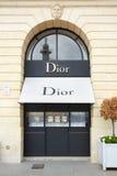 Boutique de Dior Vendome en place à Paris Photos stock