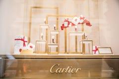 Boutique de fenêtre de Cartier Images libres de droits