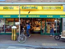 Boutique de fromage à Amsterdam Image libre de droits