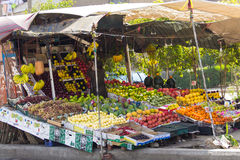 Boutique de fruit, le Caire en Egypte Photos stock