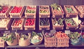 Boutique de fruits et légumes Photographie stock libre de droits