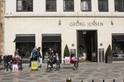 BOUTIQUE DE GEORG JENSEN image stock