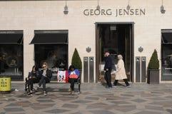 BOUTIQUE DE GEORG JENSEN images libres de droits