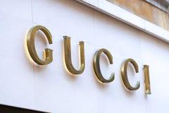 Boutique de Gucci imagen de archivo