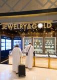 Boutique de la joyería en el aeropuerto de Bangkok Fotos de archivo libres de regalías