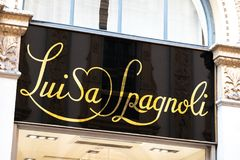 Boutique de Luisa Spagnoli photo stock