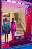 Boutique de luxe au centre de la ville de Florence, Italie Photographie stock libre de droits