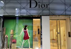 Boutique de luxe de Dior Photographie stock libre de droits