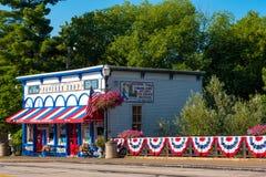 Boutique de maïs éclaté de Chagrin Falls Image stock