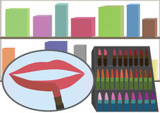 Boutique de maquillage Photographie stock libre de droits