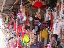 Boutique de marché en plein air Photos stock