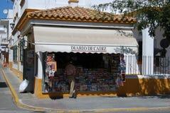 Boutique de marchand de journaux, Barbate Images libres de droits