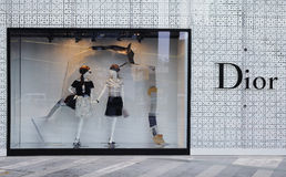 Boutique de mode de Dior Image stock
