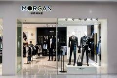 Boutique de Morgan chez Emquatier, Bangkok, Thaïlande, le 15 octobre 2017 Image stock