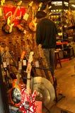Boutique de musique Photos stock